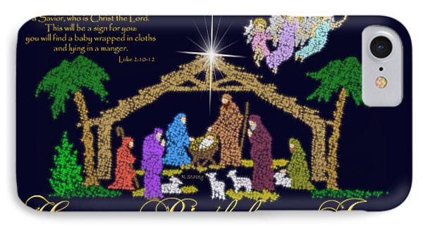Happy Birthday Jesus Nativity IPhone Case