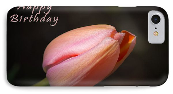Happy Birthday Tulip IPhone Case by Michele Wright