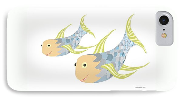 Happy Blue Fish IPhone Case
