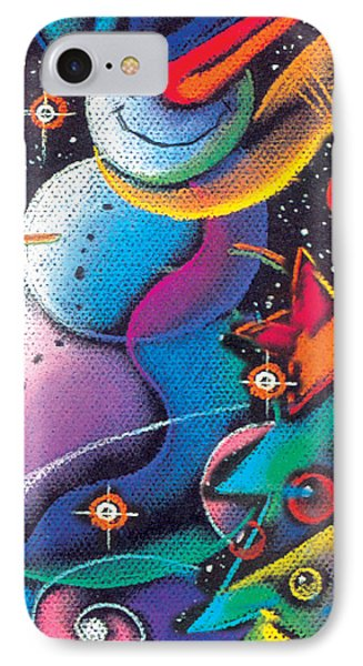 Happy Christmas Phone Case by Leon Zernitsky