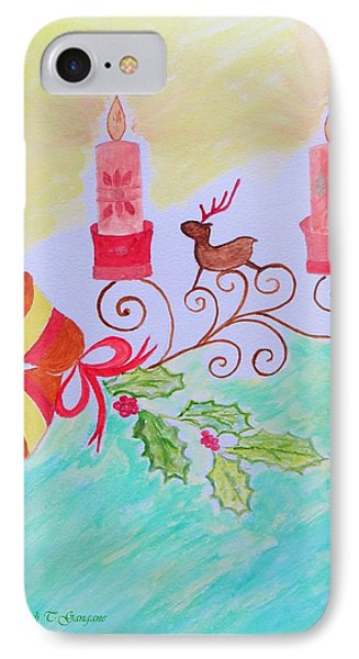 Happy Christmas IPhone Case by Sonali Gangane