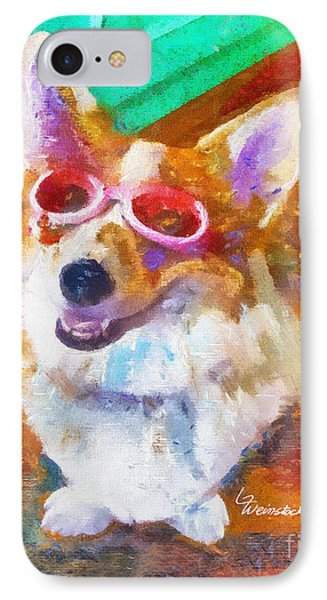 IPhone Case featuring the painting Alameda Happy Little Cancer Survivor  by Linda Weinstock
