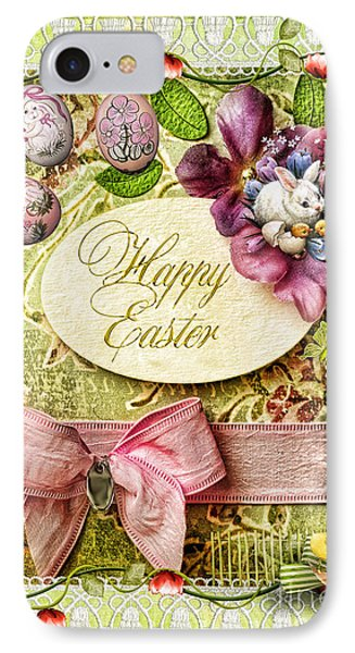 Happy Easter 2 Phone Case by Mo T