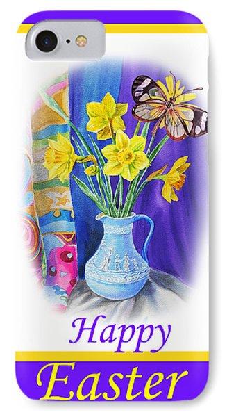 Happy Easter Daffodils Phone Case by Irina Sztukowski