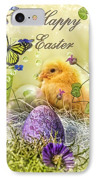 Happy Easter Phone Case by Mo T