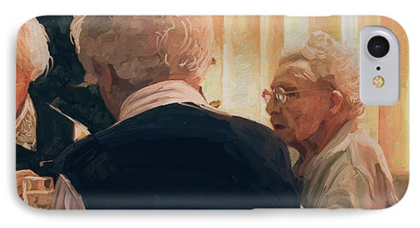 IPhone Case featuring the painting Happy Elderly by Nop Briex