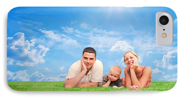 Happy Family Together On Grass Phone Case by Michal Bednarek