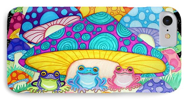 Happy Frogs In The Starlight  IPhone Case