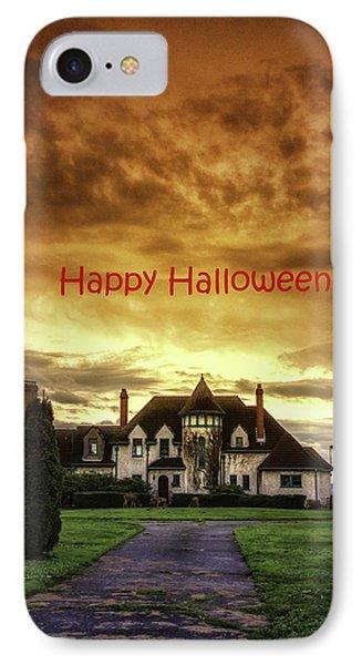 Happy Halloween Fiery Castle Phone Case by Eti Reid