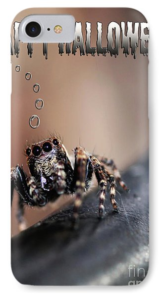 Happy Halloween For The Spider Lovers IPhone Case by Kaye Menner