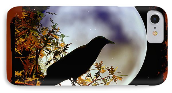 Happy Halloween Moon And Crow IPhone Case