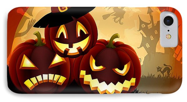 IPhone Case featuring the painting Happy Halloween by Gianfranco Weiss