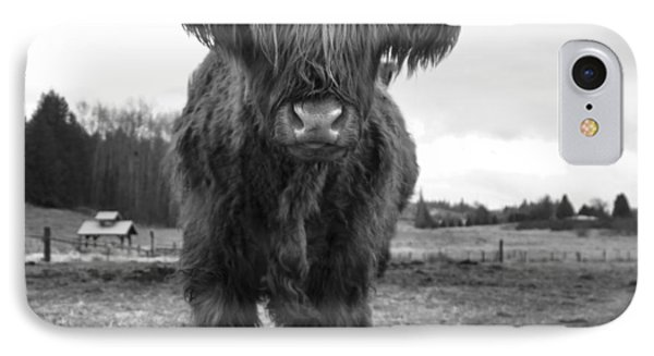 Happy Highland Cow IPhone Case by Sonya Lang