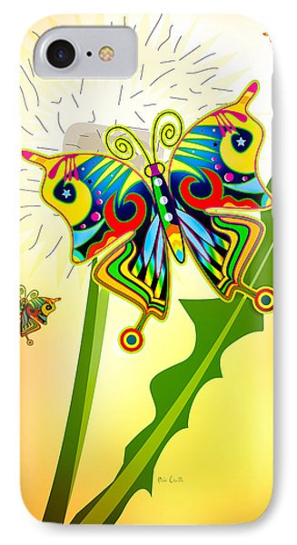 Happy Hippie Butterflies Phone Case by Bob Orsillo