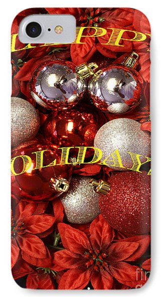 Happy Holidays IPhone Case by Gary Brandes