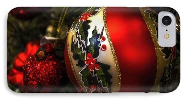 Happy Holidays Greeting Card Phone Case by Julie Palencia
