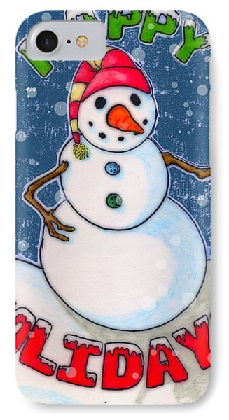 Happy Holidays IPhone Case by Jame Hayes