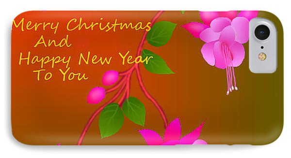 IPhone Case featuring the digital art Happy Holidays by Latha Gokuldas Panicker