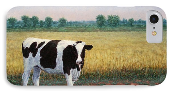 Cow iPhone 7 Case - Happy Holstein by James W Johnson