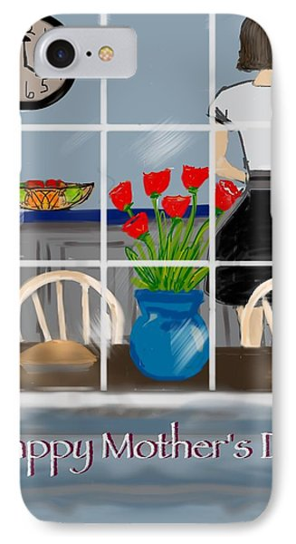 IPhone Case featuring the digital art Happy Homemaker by Christine Fournier