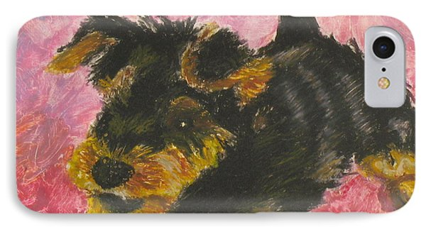 IPhone Case featuring the painting Happy by Jeanne Fischer