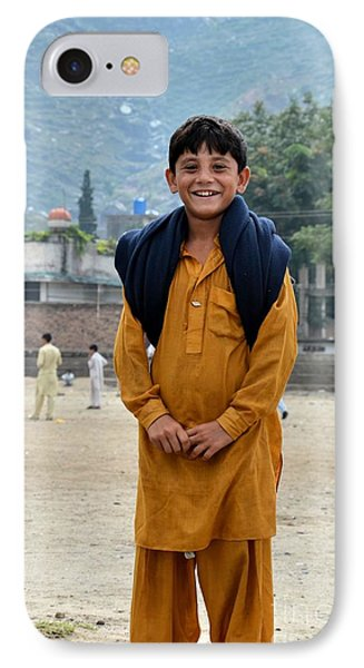 IPhone Case featuring the photograph Happy Laughing Pathan Boy In Swat Valley Pakistan by Imran Ahmed