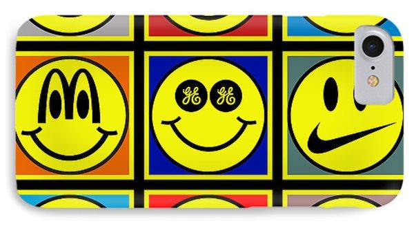Happy Logos Phone Case by Tony Rubino