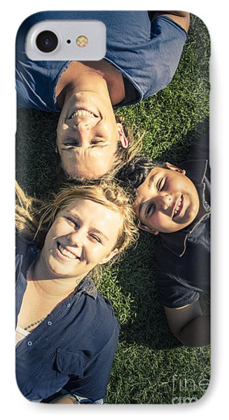 Happy Modern Family Enjoying The Fun In Spring IPhone Case by Jorgo Photography - Wall Art Gallery