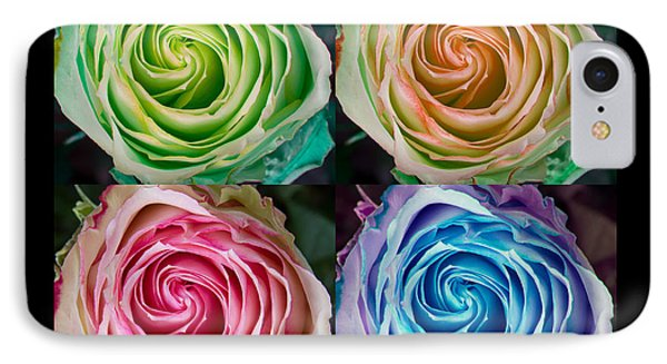 Happy Mothers Day Hugs Kisses And Colorful Rose Spirals Phone Case by James BO  Insogna