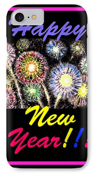 Happy New Year Phone Case by Irina Sztukowski