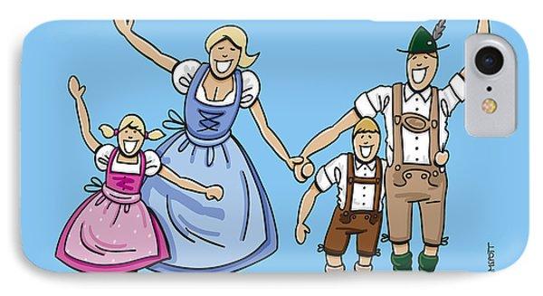 Happy Oktoberfest Family Waving Hands IPhone Case