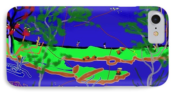 Happy Peninsula Digital Painting Phone Case by Colette Dumont