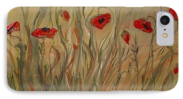 IPhone Case featuring the painting Happy Poppies by Dorothy Maier