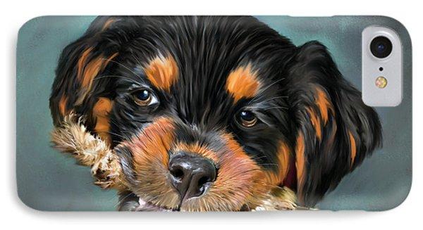 Happy Puppy Phone Case by Angela A Stanton
