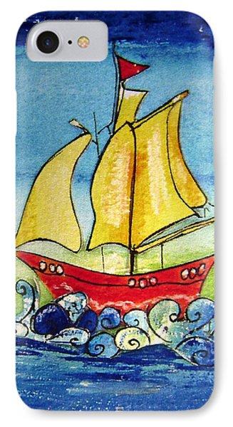 Happy Sailing Ship  IPhone Case