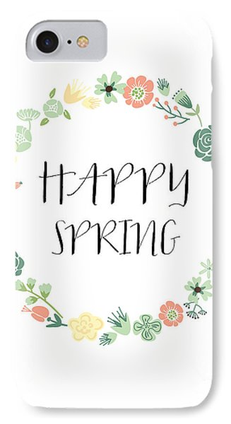 Happy Spring  IPhone Case by Natalie Skywalker