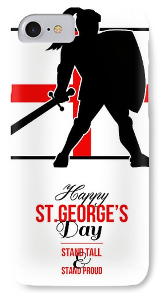 Happy St George Day Stand Tall And Proud Greeting Card Phone Case by Aloysius Patrimonio