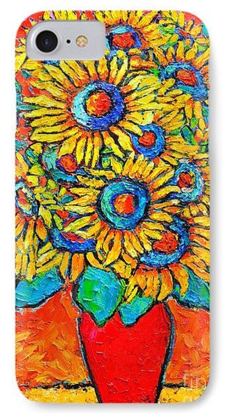 Happy Sunflowers IPhone Case by Ana Maria Edulescu