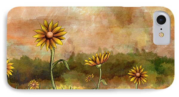Happy Sunflowers IPhone Case by Bedros Awak