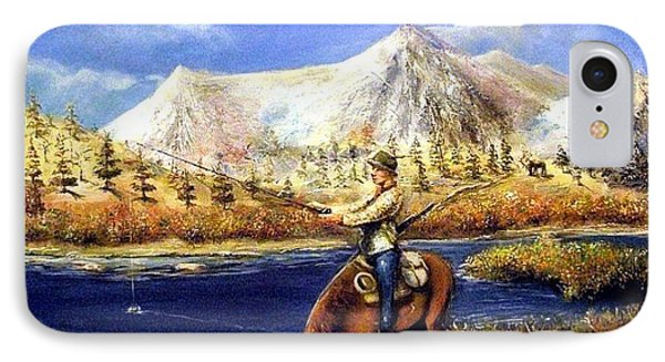IPhone Case featuring the painting Happy Trails by Bernadette Krupa