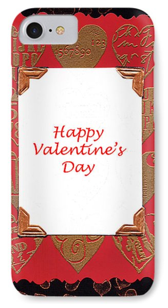 IPhone Case featuring the photograph Happy Valentines Day Card by Vizual Studio