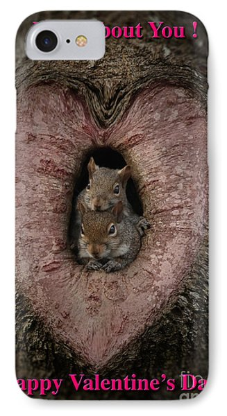 Happy Valentine Squirrels IPhone Case