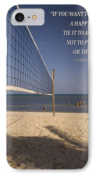 Happy Volleyball Goal IPhone Case by Bob Pardue