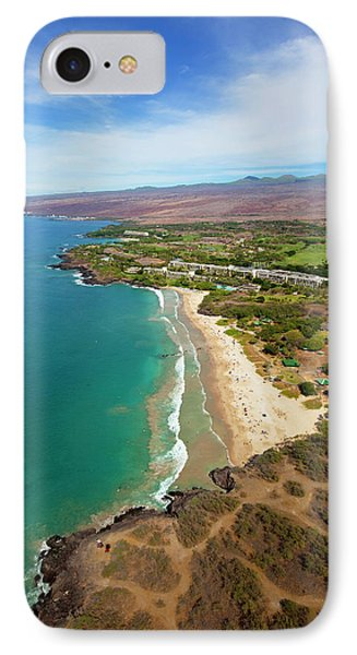 Hapuna Beach Prince Hotel, Mauna Kea IPhone Case by Douglas Peebles