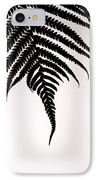 Hapu'u Frond Leaf Silhouette IPhone Case by Lehua Pekelo-Stearns