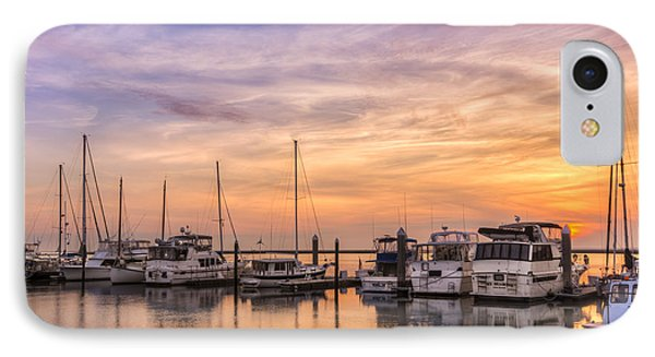 Harbor At Jekyll Island Phone Case by Debra and Dave Vanderlaan