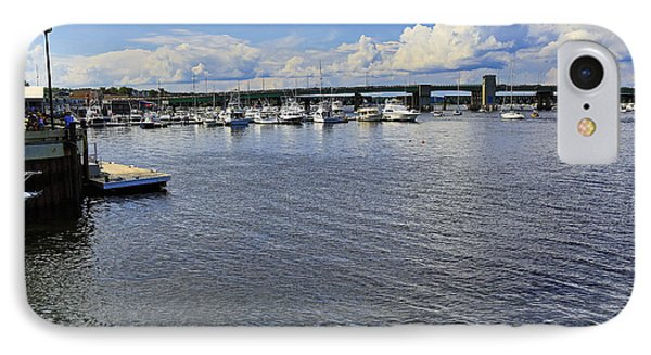 Harbor At Newburyport Ma 3 IPhone Case by John Hoey