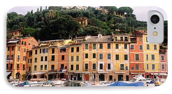 Harbor Houses Portofino Italy IPhone Case by Panoramic Images