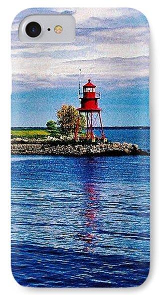 Harbor Light IPhone Case by Daniel Thompson