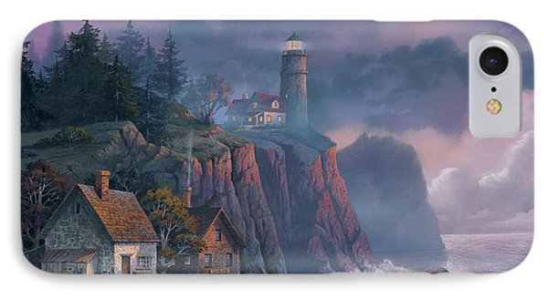 iPhone 7 Case - Harbor Light Hideaway by Michael Humphries